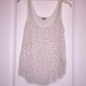 EUC guess sheer sparkle tank